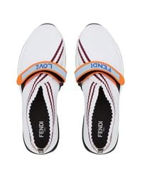 Fendi White Slip-on Sneakers