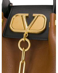 Grand sac cabas Garavani VLOGO Valentino en coloris Brown