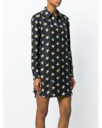 Equipment Black Star Print Shirt Dress