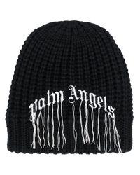 Gorro con logo Palm Angels de hombre de color Black