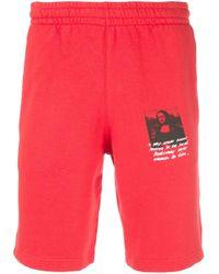 Shorts sportivi Mona Lisa con stampa di Off-White c/o Virgil Abloh in Red da Uomo