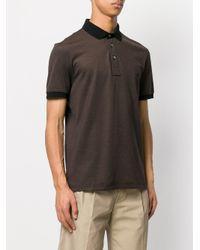 Ferragamo Brown Short-sleeved Polo Shirt for men