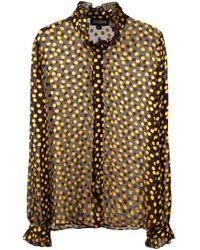 Camicia a pois trasparente di Saloni in Multicolor