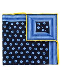 Foulard imprimé Kiton pour homme en coloris Blue