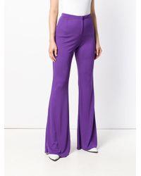 Marni Purple High-waist Flared Jersey Trousers
