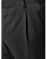 Z Zegna Gray Tailored Wool-mix Trousers for men