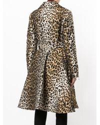Sara Battaglia - Brown Leopard Print Coat - Lyst