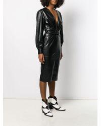 MSGM Black Minikleid mit Knotendetail