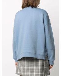 Ganni ドロップショルダー スウェットシャツ Blue