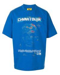 メンズ Chinatown Market Ai グラフィック Tシャツ Blue
