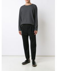 Lemaire - Black Pleated Pants for Men - Lyst