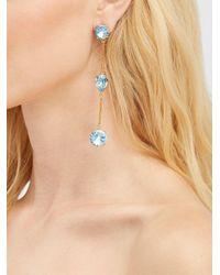 Pendientes con colgante de cristal Oscar de la Renta de color Blue