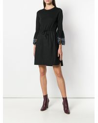 See By Chloé Black Fitted Waist Summer Sdress