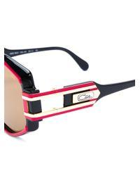 Cazal Red Oversized Aviator Sunglasses
