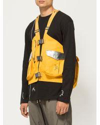 メンズ A_COLD_WALL* ストラップディテール ベスト Yellow