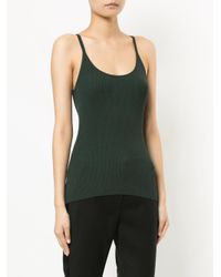 Dion Lee - Green Fitted Fine Knit Rib Tank - Lyst
