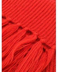 Luisa Cerano フレイドエッジ スカーフ Red