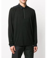 メンズ Arc'teryx Frame ロングスリーブ ポロシャツ Black