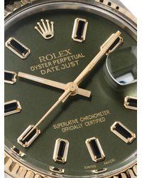 Orologio a moto perpetuo Rolex Oyster di Lizzie Mandler in Green