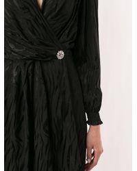 ANDAMANE タイガープリント ラップドレス Black