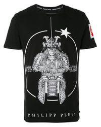 Philipp Plein Black 'shiki' T-shirt for men
