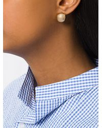 J.W. Anderson - Metallic Sphere Stud Earrings - Lyst
