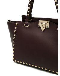 Valentino Garavani Purple Rockstud Small Tote Bag