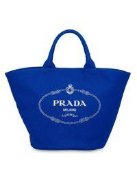 Prada カナパ キャンバストートバッグ Blue