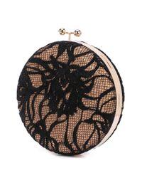 Tadashi Shoji Black Round Clutch Bag