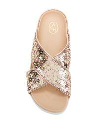 Ash Metallic Star Appliqué Sandals