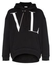 メンズ Valentino Vltn ロゴ パーカー Black