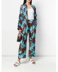 Pantaloni taglio comodo con stampa di P.A.R.O.S.H. in Blue