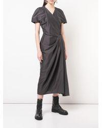 Robe Limo à manches courtes Rick Owens en coloris Black