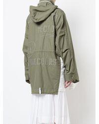 Sacai Green Oversized Parka Jacket