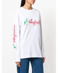 Gcds White Long Sleeved Sweater