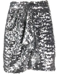 Amen ドレープ ミニスカート Metallic