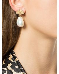 Meadowlark - White Large Vita Drop Earrings - Lyst