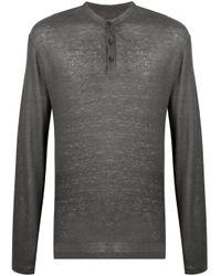 メンズ AllSaints ボタン Tシャツ Gray