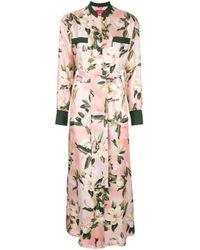 Vestido camisero con motivo floral F.R.S For Restless Sleepers de color Pink