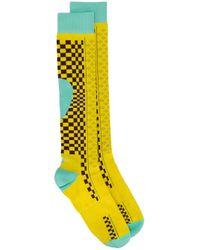 Носки В Стиле Колор-блок Asics для него, цвет: Yellow