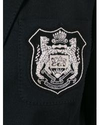 Ralph Lauren Black Embroidered Emblem Blazer