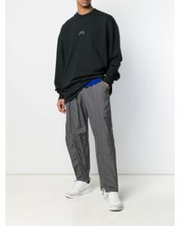 A_COLD_WALL* Gray Diagonal Tie Track Pants for men