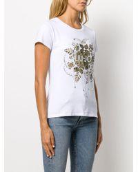T-shirt à imprimé graphique Liu Jo en coloris White
