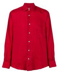 Camisa con corte slim Aspesi de hombre de color Red