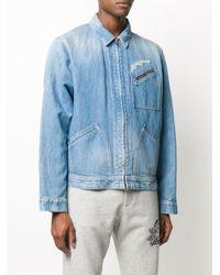メンズ Alexander McQueen デニムジャケット Blue