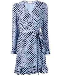 Essentiel Antwerp ドット ドレス Blue