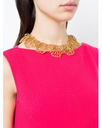 Oscar de la Renta Metallic Coral Branch Necklace