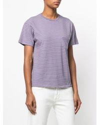 Levi's - Purple Striped Fitted T-shirt - Lyst