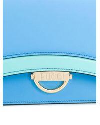 Emilio Pucci カラーブロック ショルダーバッグ Blue
