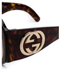 Gafas de sol oversize Gucci de color Brown